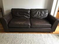 M&S Leather sofa
