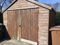 Wooden garage 18x10x8.5ft