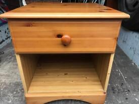 Pine bedside cabinet FREE DELIVERY PLYMOUTH AREA