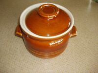 Wade Country Ware Brown and Cream Casserole and Lid