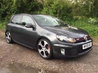 VOLKSWAGEN GOLF GTI DSG 2009(59) HPI CLEAR FULL LEATHER AUTOMATIC RARE GREY**