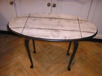 TWO DROP LEAVE OVAL COFFEE TABLE