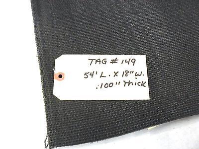 Unknown Brand Conveyor Belt 54 X 18 Interwoven 150 Polyester Black Pvc