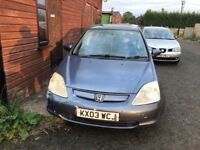 HONDA CIVIC 1.4 AUTOMATIC **Heated Leather Seats**
