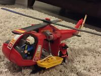 Play Mobile Rescue helicopter, complete with winch and stretcher.