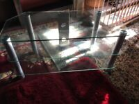 Glass TV/Entertainment Stand