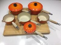 Set of 6 Le Creuset Pans