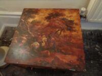Beautiful decoupage coffee table