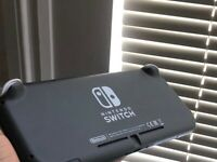 Nintendo switch, virtually new. Plus Nintendo Switch Lite slim hand pouch (black)