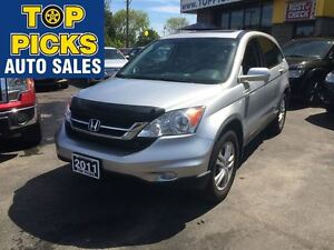 2011 Honda CR-V EXL AWD, LEATHER, SUNROOF, ALLOYS!