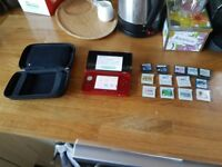3DS with Games and Case