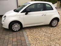 2015/65 Fiat 500 White. One Owner.