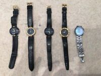 Selection of retro watches all genuine
