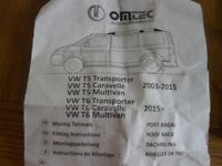 Brand new omtec vw t5 t6 roof rails and bars