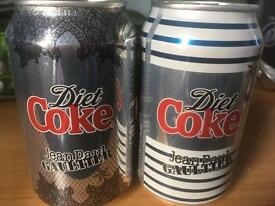 Diet Coke jean paul gaultier cans limited edition