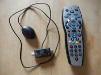 Sky HD+ remote control including batteries, and magic eye receiver