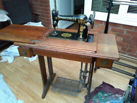 old vintage singer sewing machine