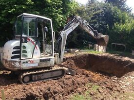 MINIDIGGER HIRE BRADFORD FROM EXCAVATIONS CONTRACTORS WE COVER WAKEFIELD HARROGATE WEATHERBY