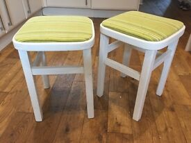 "Two 18"" high kitchen stools"