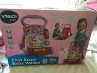 Baby first walker in pink