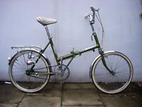 Classic Folding Shopper Bike by Raleigh,20 inch Wheels, All Original!!, JUST SERVICED/ CHEAP PRICE!!