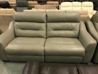 High retail leather 3 seater electric reclining sofa with matching chair