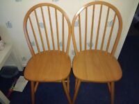 2 x Dining / Kitchen Chairs - PINE solid wood