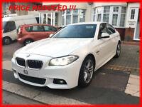 520d BMW M Sport Alpine White Auto SAT NAV NAPPA leather 63 reg NEW SHAPE