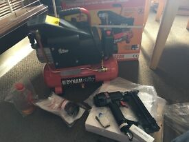 Air compressor 6L with nailer and stapler gun BRAND NEW