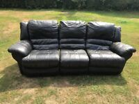 FREE. 3 Seater Recling Leather Sofa