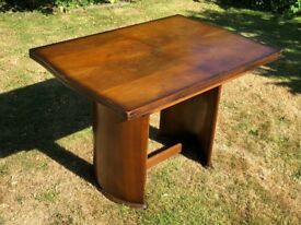 Polished Wood Dining Table