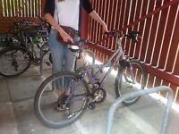 Mountain bike, 26'' wheels, lilac-silver