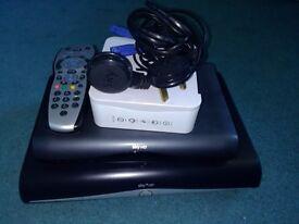 Sky Hd box/multi room box and router