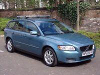EXCELLENT ESTATE!!! 2008 Volvo V50 1.6 S ESTATE 5dr, 1 YEAR MOT, WARRANTY, 1 FORMER KEEPER