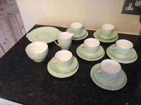 Minton green tea set