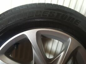Gen peugeot 208 alloy wheel with bridgestone tyres 185/65 r 15