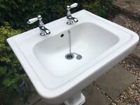 Basin and taps