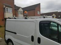 Ladder roof rack and pipe store and four roof bars