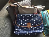 Babymel Jumbo Dot Navy Changing Bag