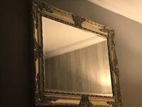 Large Silver Grey Mirror