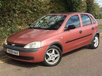 2001 VAUXHALL CORSA COMFORT, 1.4 ENGINE, AUTOMATIC, 5 DOORS WITH HISTORY.