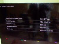 Sony Bravia 50inch; 1080 dpi; HD TV 3D.