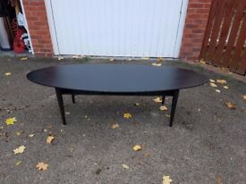 Large Oval Ikea Black Coffee Table FREE DELIVERY 055