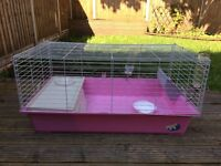 Guinea pig cage + 2 bottles and bowl