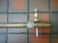 narrow boat or barge vintage brass tiller