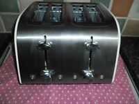 Brushed Stainless 4 Slice Toaster**NO TEXTS**