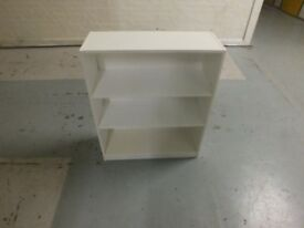 White Open Shelf Single Base Cabinet Cupboard Unit (High Gloss)