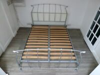 KING SIZE SILVER METAL JAY-BE BED FRAME