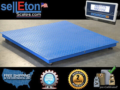 Heavy Duty 4 X 4 Industrial Floor Scale Pallet Size 10000 X 1 Lb New