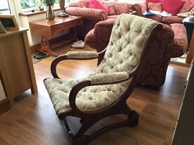 Beautiful antique bedroom/occasional upholstered chair, in very good condition